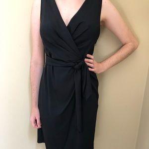 Diane von Furstenberg LBD classic black wrap dress